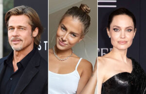 Brad Pitt's Girlfriend Nicole Poturalski Claps Back as troll accuses her of 'hating' Angelina Jolie